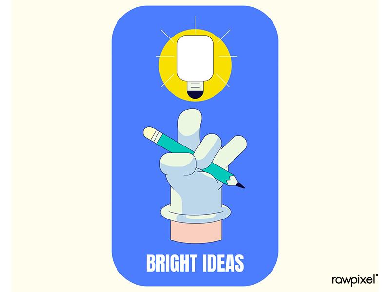 Bright ideas badge design vector icon vector design