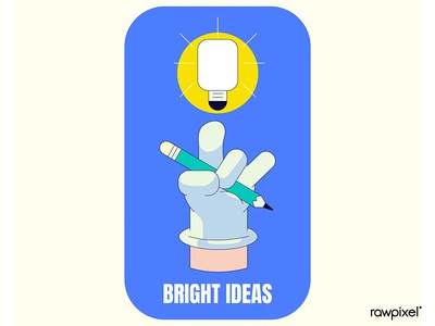 Bright ideas badge design vector