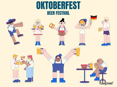 Oktoberfest beer festival celebration vector