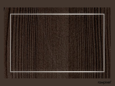 White gold frame on wooden background vector