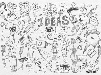 Creative doodle design idea vector