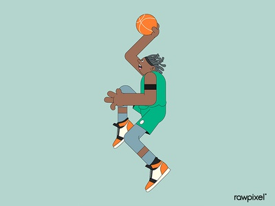 Young basketball player character