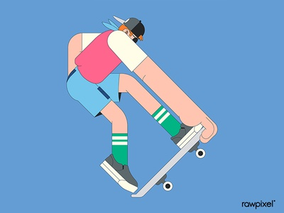Young skater character