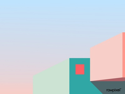 Minimal house exterior design vector