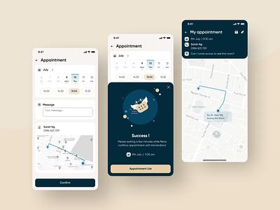 Rental Appointment Mobile App Concept app