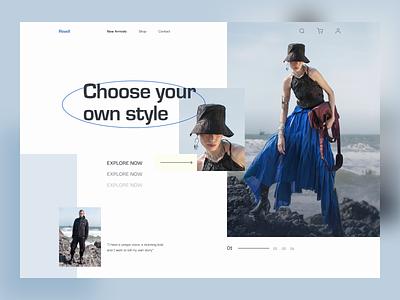 Fashion Website ui concept website