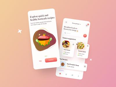 Recipe App UI Concept ui design mobile app recipe food ui concept app