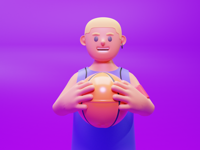 Basketball 3D Character character illustration blender3d blender sport characterdesign design illustration 3d character design ui 3d animation 3d