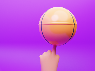 Basketball 3d illustration 3d animation characterdesign design blender3d 3d modeling sport 3d ilustration 3d art 3d icon