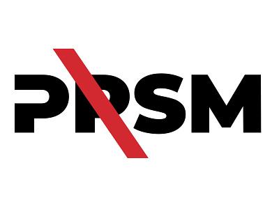 PRSM typography graphic design flat design branding vector logo illustration