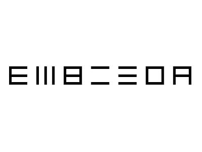 EMBISDA illustration branding font typography graphic design vector logo flat design