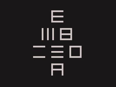 EMBISDA font typography graphic design vector logo illustration flat design branding