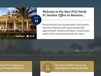 News Section for NF PGA