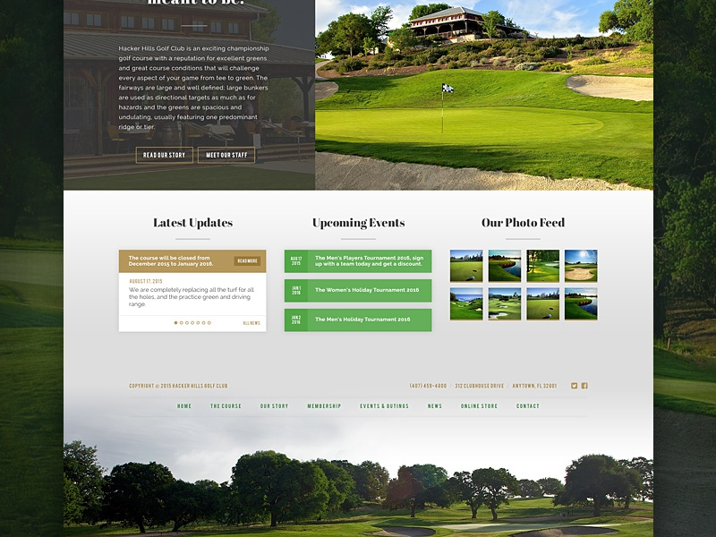 Golf Course Design -- Body and Footer content homepage green natural golf