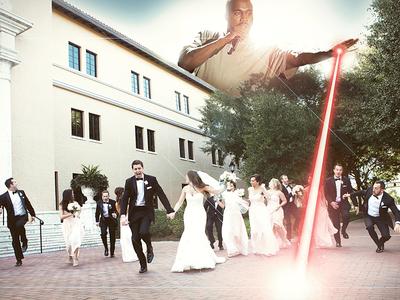Wedding Crashing Kanye edit photoshop kanye