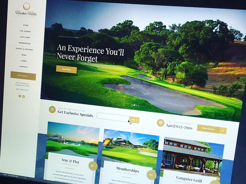 Stay Classy Golf Course Template ui homepage resort luxury golf