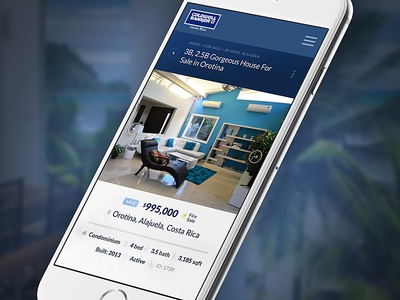 Mobile Property Details View real estate ux ui mobile