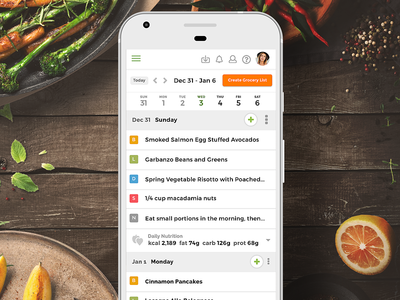 Planner Mobile View