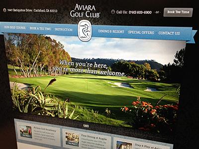 Aviara Golf Club Homepage Shot homepage website ribbon photo