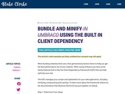 Blog Article Design website design website blog
