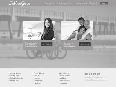 LeeValent Homepage Wireframe