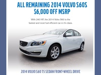 $6000 Off 2014 Volvo S60s Email