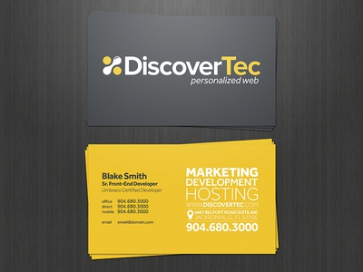 DiscoverTec Business Cards business cards print design