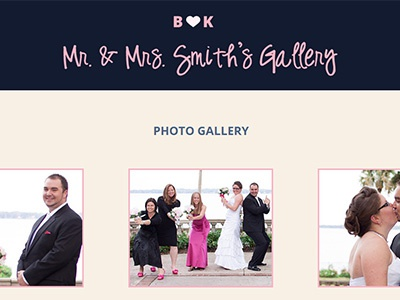 Smith's Wedding Website wedding married blog gallery bootstrap responsive