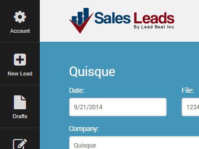 Sales Leads Admin Portal portal manage leads