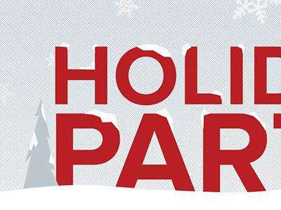 Holiday Party Invitation invite christmas winter holiday party invitation illustration