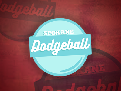 Spokane Dodgeball Logo ball sports dodgeball logo