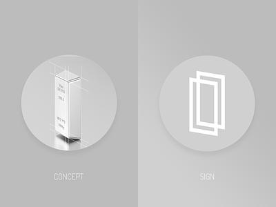 Siabani Gallery - Brand Sign Concept vector concept store silver sign logo silver stotre illustration design branding brand identity