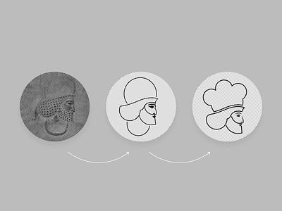MAD Restaurant - Sign Concept concept logosign cofe restaurant sign iran vector logo illustration design branding brand identity