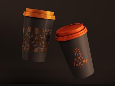 Violin Pattern packaging pattern design pattern art pattern vector logo illustration design brand identity