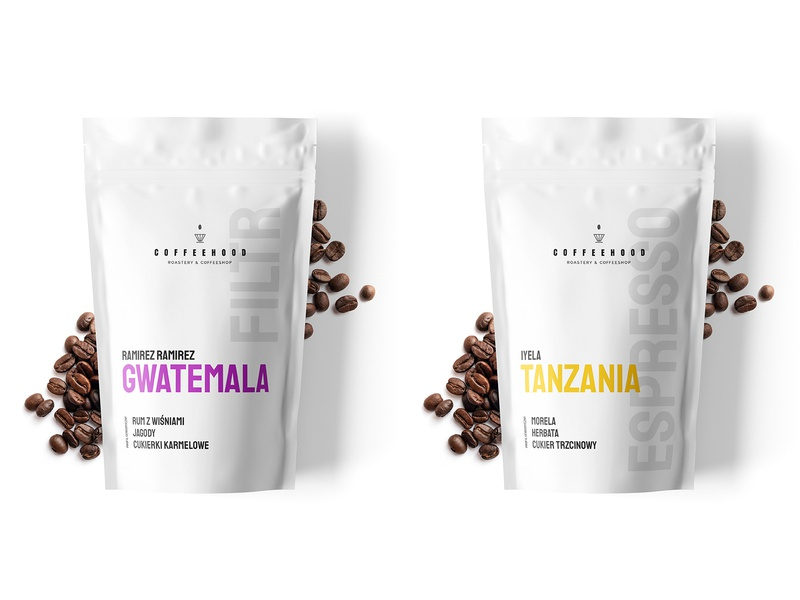 Coffeehood - doypack design concept roastery coffeeshop label design package design pack packaging doypack coffee