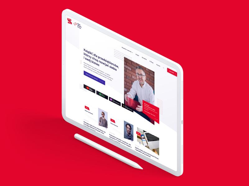 Mała Wielka Firma - Podcast mockup layout podcasting blog podcast template design webdesign ui design ui