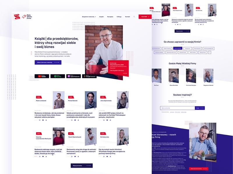 Mała Wielka Firma - Home template layout podcasting podcast blog interface webdesign ui design ui