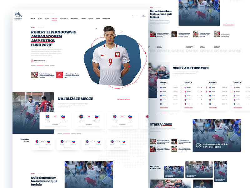 AMP Euro 2020 app branding layout ui webdesign soccer sport eaff amputee football amp
