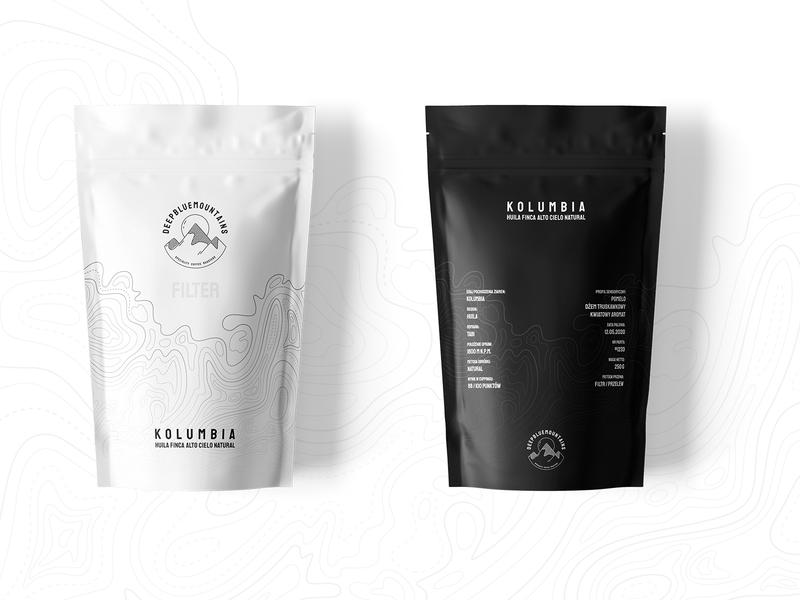 Deep Blue Mountains - packaging design design logotype design brand ui minimal package design package logotype logo coffee