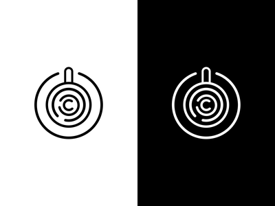 CF logo logotype idea company branding brand identity logo design sign logo