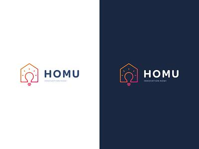 Homu Logotype logotype logos colors gradient brand sign logo design design logo