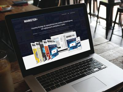 Marketer+ Prenumerata - landing page