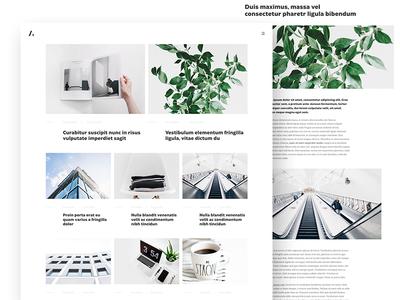Agressiva Blog - new concept white webdesign bloger wordpress theme design pandify minimalizm blog