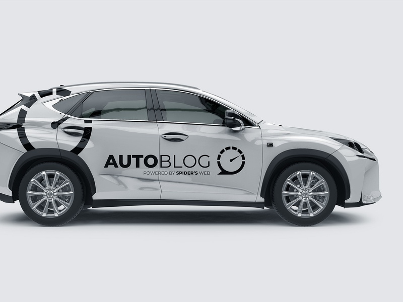 Autoblog Logo moto car design mockup branding brand blog cars auto logotype logo