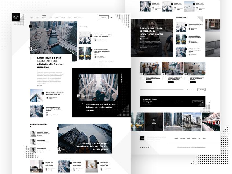 Metropolis - WordPress Theme newspaper magazine layout ui webdesign web template theme wordpress blog