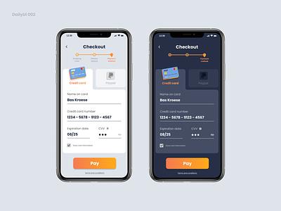 DailyUI 002 - Credit Card Checkout credit card payment checkout ui design daily ui 002 daily ui
