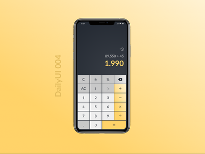 DailyUI 004 - Calculator calculator design calculator lato figmadesign daily ui 004 daily ui