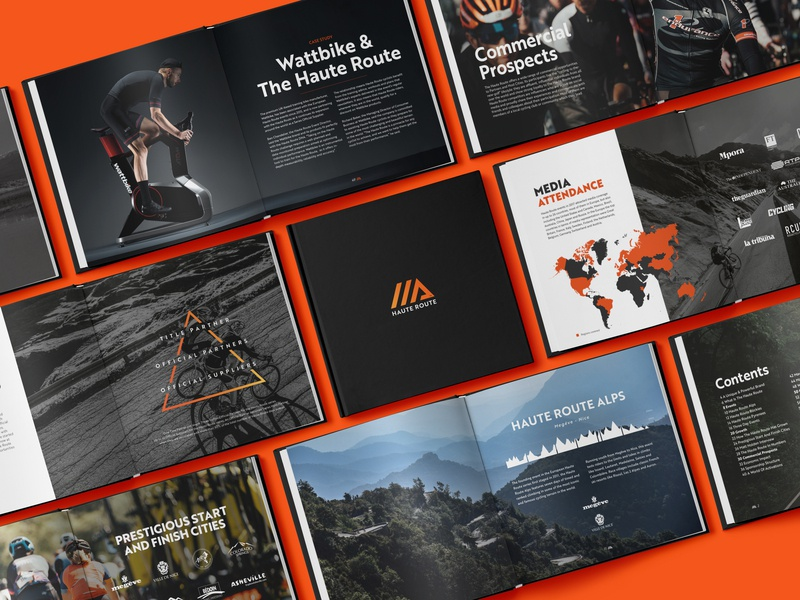 Haute Route 2018 Commercial Guide haute route graphic design editorial design information design print bike cycling sport typogaphy book editoral