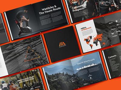 Haute Route 2018 Commercial Guide haute route graphic design editorial design information design print bike cycling sport typogaphy book editoral