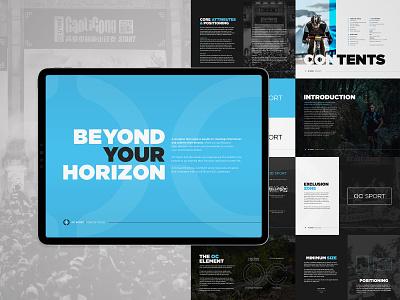 OC Sport Brand Guidelines sport brand guidelines brand guide retouch typogaphy layout design graphic  design